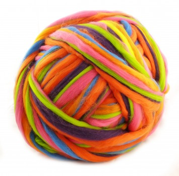 "multicolor Merino-Kammzug ""Wild Thing"""