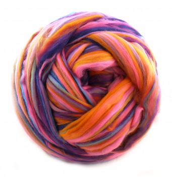 "multicolor Merino-Kammzug ""Shake the room"""