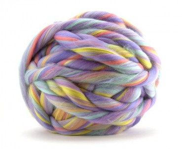 "multicolor Merino-Kammzug ""Unicorn"""
