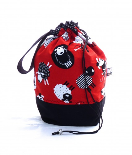 "Stricktasche ""Red Sheeps"""