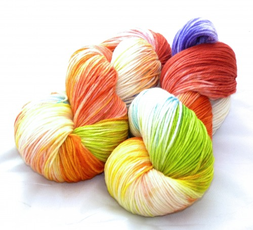 "Feinheit - Merino ULTRAFEIN ""Regenbogen, light"""