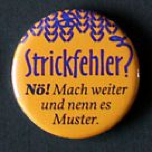 "Button ""Strickfehler? ..."""