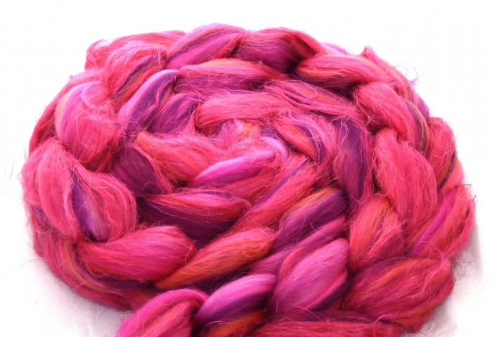 "multicolor Merino-Kammzug mit Leinen ""Girls United"""