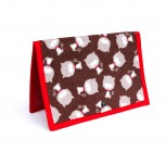 "Magnet Wallet, ""Brown Kitty"""
