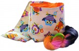 "Knitty-LEG-Bag ""Orange Owls"", BIG"