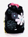 "Stricktasche ""Black Flowers"""